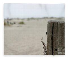 Old Fence Pole Fleece Blanket