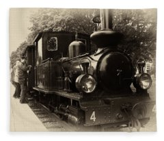 Old Train Sweden Fleece Blanket