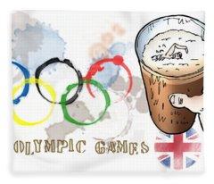 Olympic Rings Fleece Blanket