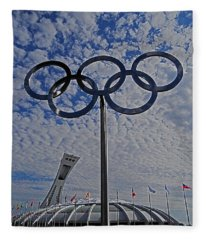 Olympic Stadium Montreal Fleece Blanket
