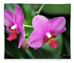 Orchid Purple Fleece Blanket