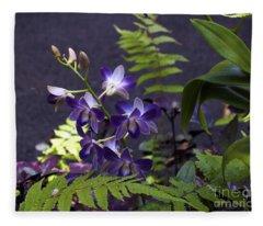Orchid Study Iv Fleece Blanket