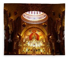 Orthodox Church In Los Angeles, California Fleece Blanket