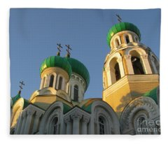 Orthodox Church Of Sts Michael And Constantine- Vilnius Lithuania Fleece Blanket