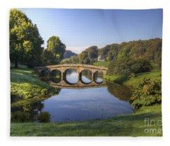 Palladian Bridge At Stourhead. Fleece Blanket