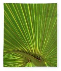 Palm Leaf Fleece Blanket