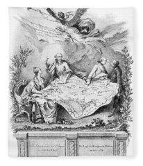 Partition Of Poland, 1773 Fleece Blanket