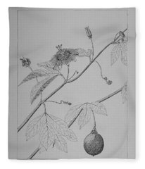 Passionflower Vine Fleece Blanket