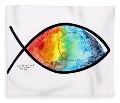 Peces De Oracion 1 Fleece Blanket