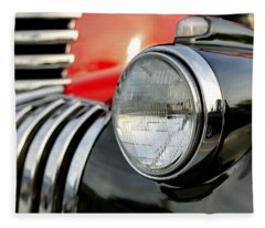 Pickup Chevrolet Headlight. Miami Fleece Blanket