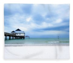 Pier 60 At Clearwater Beach Florida Fleece Blanket