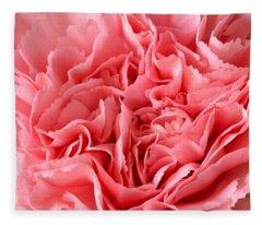 Pink Carnation Fleece Blanket
