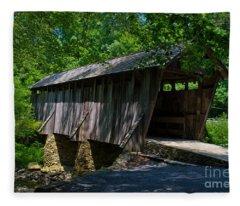 Pisgah Covered Bridge Fleece Blanket