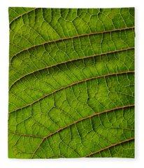 Poinsettia Leaf II Fleece Blanket