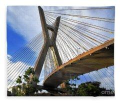Ponte Estaiada Octavio Frias De Oliveira Ao Cair Da Tarde Fleece Blanket