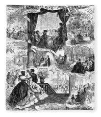 Poor New York, 1865 Fleece Blanket