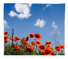 Poppy Flowers 05 Fleece Blanket