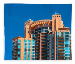 Portofino Tower At Miami Beach Fleece Blanket