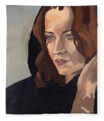 Portrait Of Becca 2 Fleece Blanket