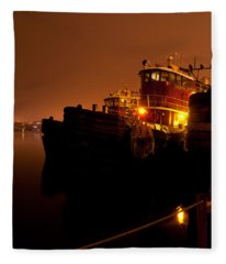 Portsmouth Tugs 1st Night Fleece Blanket