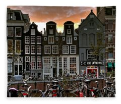 Prinsengracht 458. Amsterdam Fleece Blanket