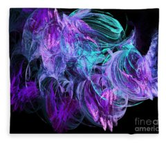 Purple Fusion Fleece Blanket