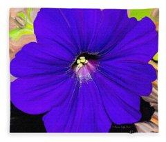 Purple Pansy Fleece Blanket