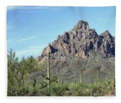 Ragged Top Mountain Panorama Fleece Blanket