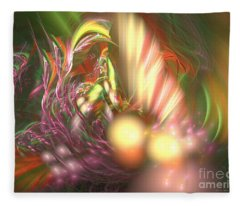 Ready To Pick Up - Abstract Art Fleece Blanket