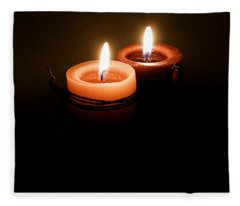 Red Candles Fleece Blanket