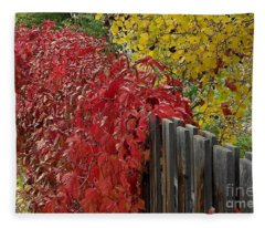 Red Fence Fleece Blanket