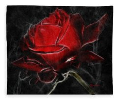 Red And Hot  Fleece Blanket