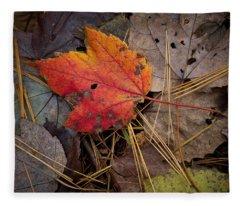 Red Leaf Fleece Blanket