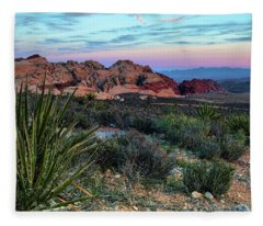 Red Rock Sunset II Fleece Blanket