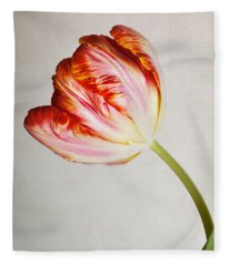 Red Tulip Fleece Blanket