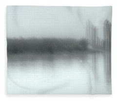 Reflections Through The Fog Fleece Blanket