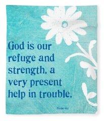 Refuge And Strength Fleece Blanket