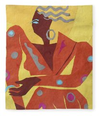 Dancer At Rest #2 Fleece Blanket