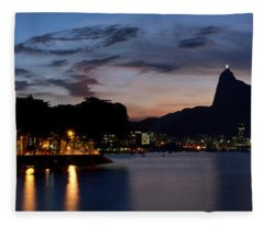 Rio Skyline From Urca Fleece Blanket