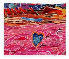 River Of Passion Fleece Blanket