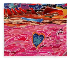 River Of Passion Fleece Blanket