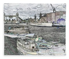 River Thames Art Fleece Blanket