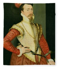 Robert Dudley - 1st Earl Of Leicester Fleece Blanket