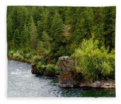 Rockin The Spokane River Fleece Blanket