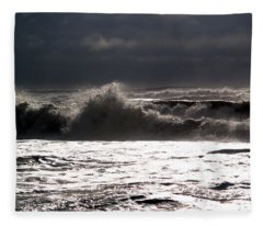 Rough Waves 2 Fleece Blanket