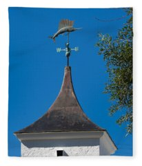 Sailfish Weather Vane At Palm Beach Shores Fleece Blanket