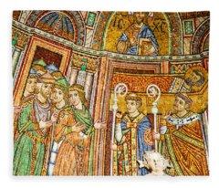 Saint Mark's Basilica Mosaic Fleece Blanket