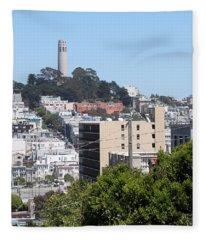 San Francisco Coit Tower Fleece Blanket