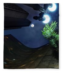 Copan Building And The Moonlight Fleece Blanket