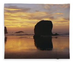 Sea Stacks Fleece Blanket